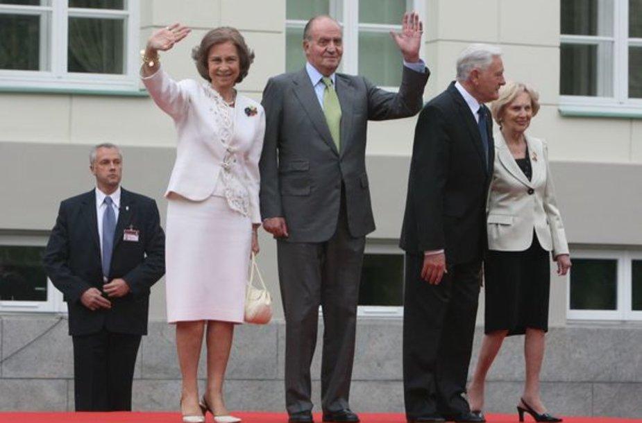 Lietuvoje valstybinį vizitą pradėjo Ispanijos monarchų pora.