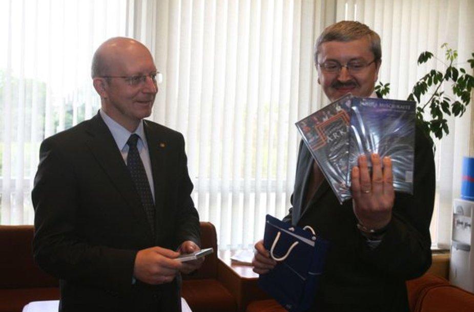 Arūnas Valinskas ir Audrius Siaurusevičius
