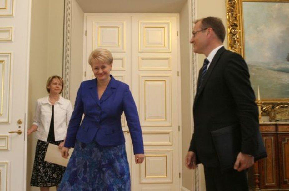 Dalia Grybauskaitė ir Algis Čaplikas
