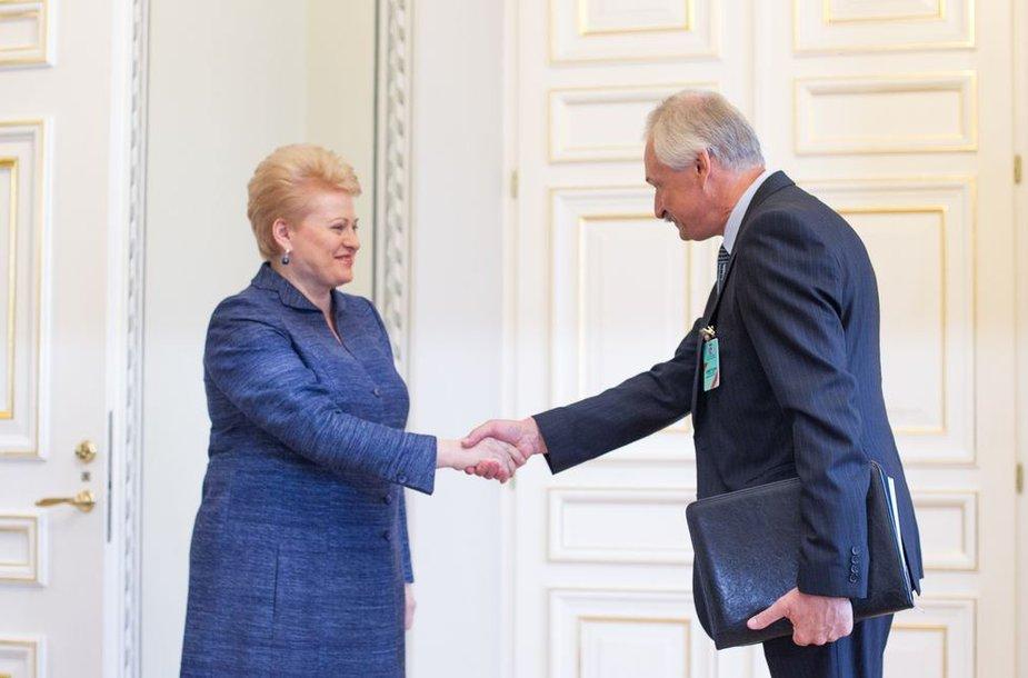 Dalia Grybauskaitė ir Evaldas Gustas
