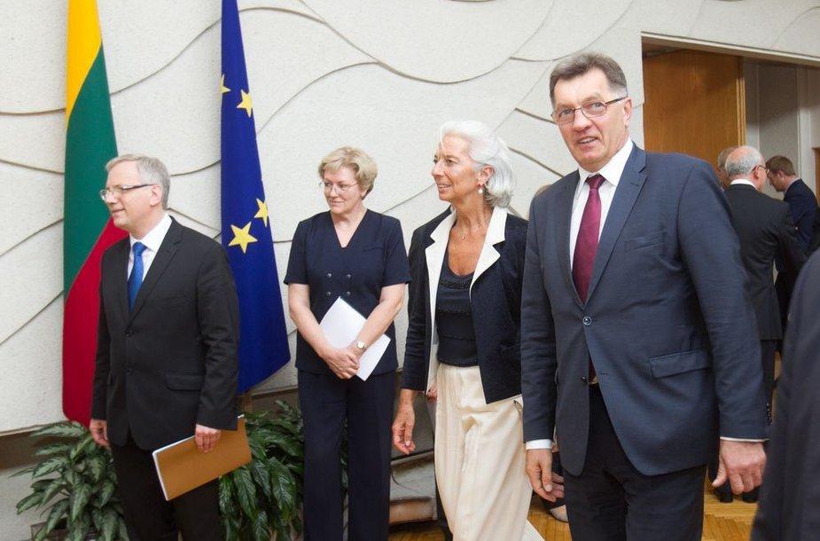 Tarptautinio valiutos fondo vaodvės Christine Lagarde vizitas Lietuvoje