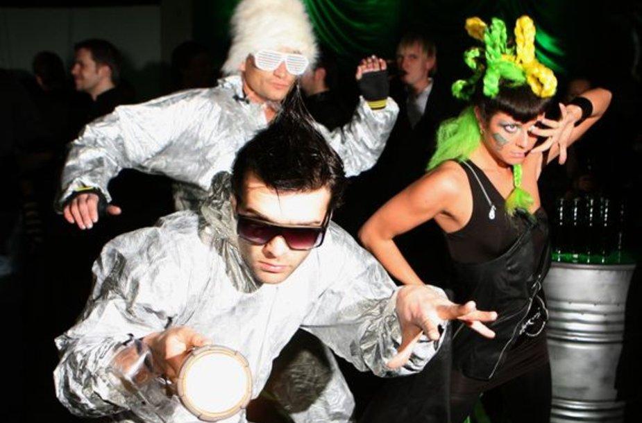 Šarūnas Kirdeikis su šokėjais