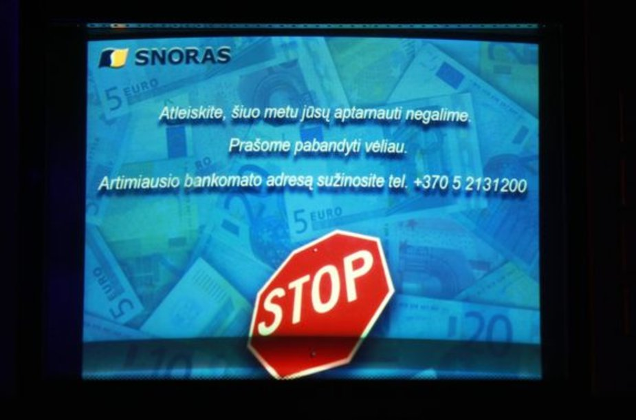 Bankomato ekranas