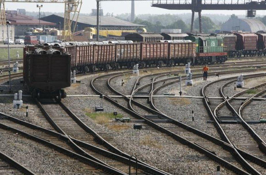 """Projektą konsultuojančios bendrovės """"Vilnius Consult"""" vykdomasis direktorius A.Tamolis sako, kad modernizavus geležinkelį, sumažės per miestą važiuojančių krovininių traukinių."""