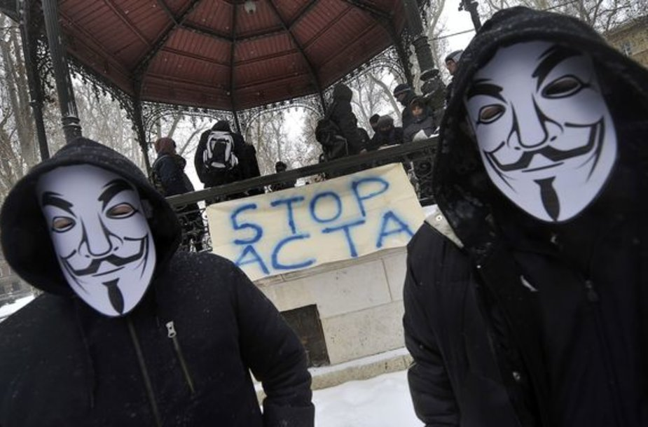 Protestuotojai Zagrebe