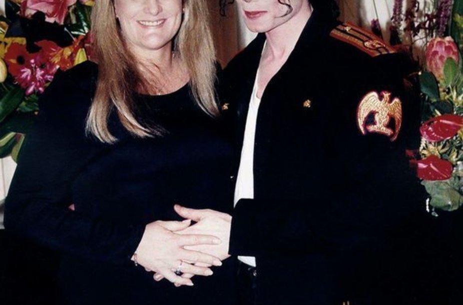 M.Jacksonas ir Debbie Row