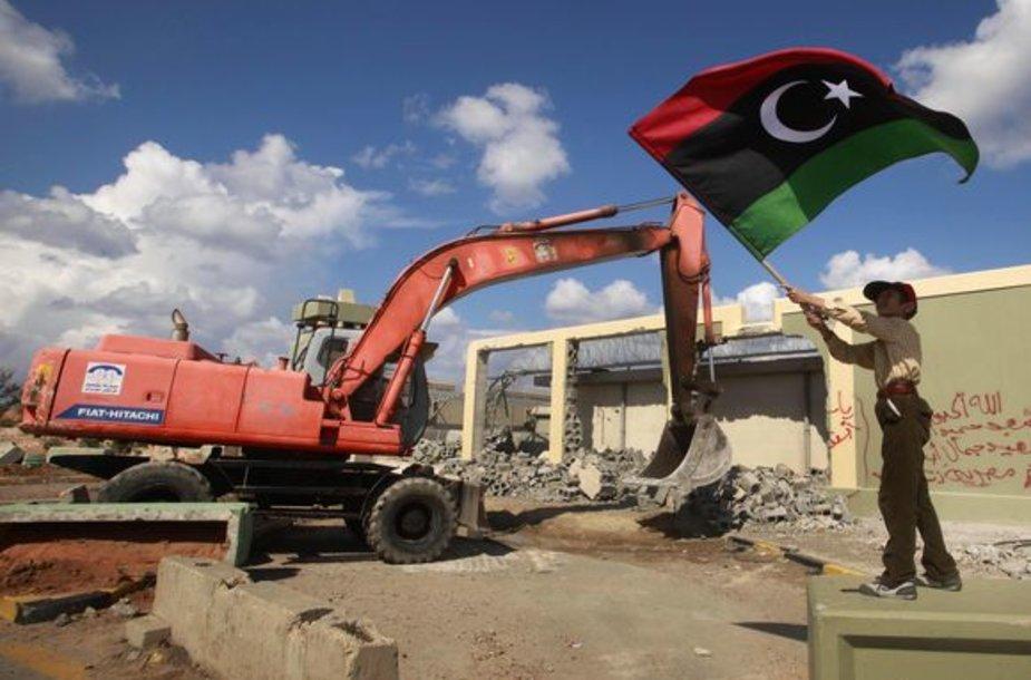 Griaunama Muamaro Kadhafi rezidencija