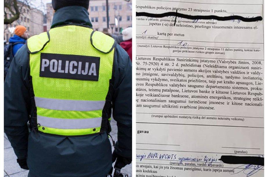 Policijos įspėjimas