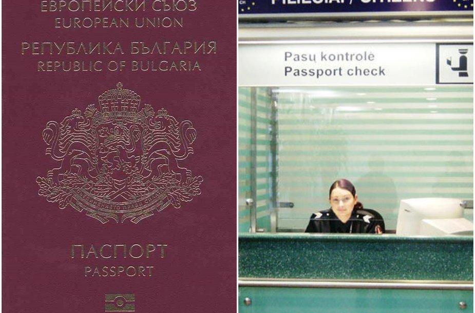Bulgariško paso klastotė ir patikra oro uoste