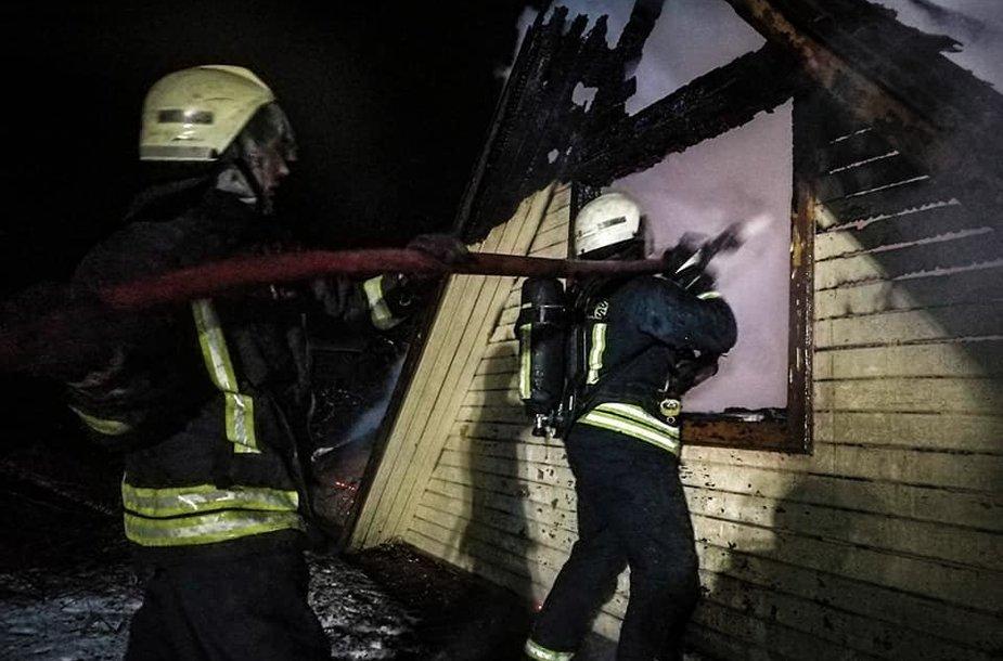 Asociatyvi iliustracija: gaisras, ugniagesiai