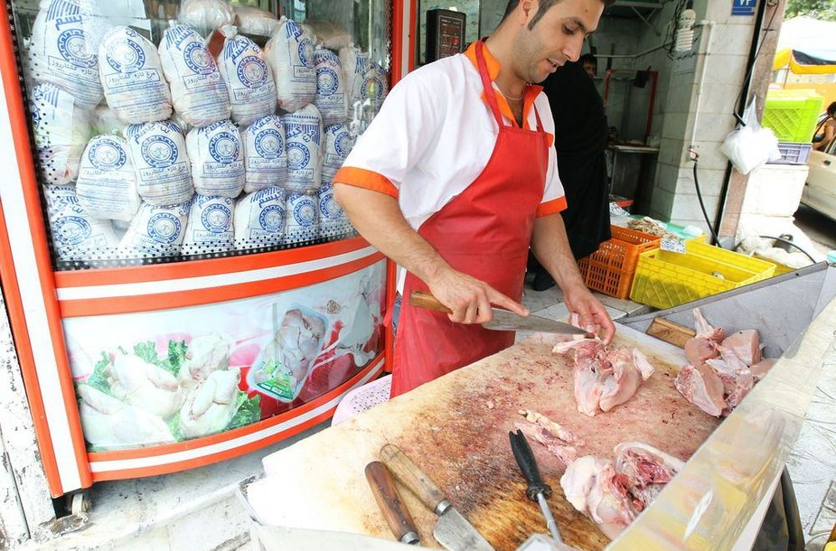 Vištienos pardavėjas Teherane