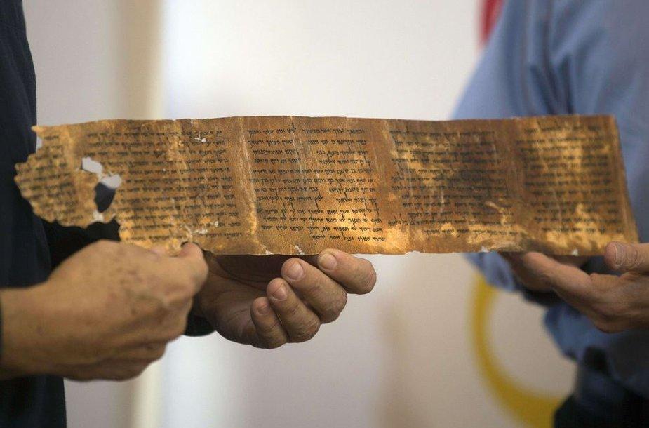 Rankraštis, rastas Negyvojoje jūroje