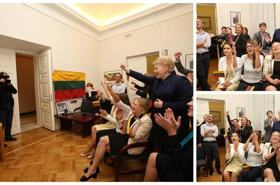 Dalia Grybauskaitė stebi rungtynes
