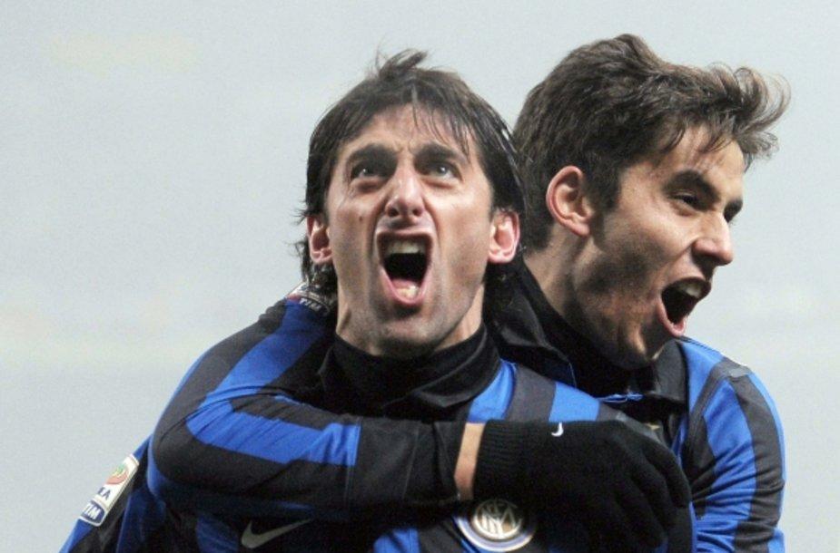 Diego Milito džiaugiasi įvarčiu