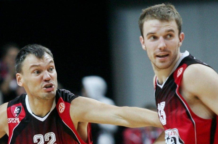 Šarūnas Jasikevičius ir Martynas Gecevičius šįkart buvo skirtingose barikadų pusėse.