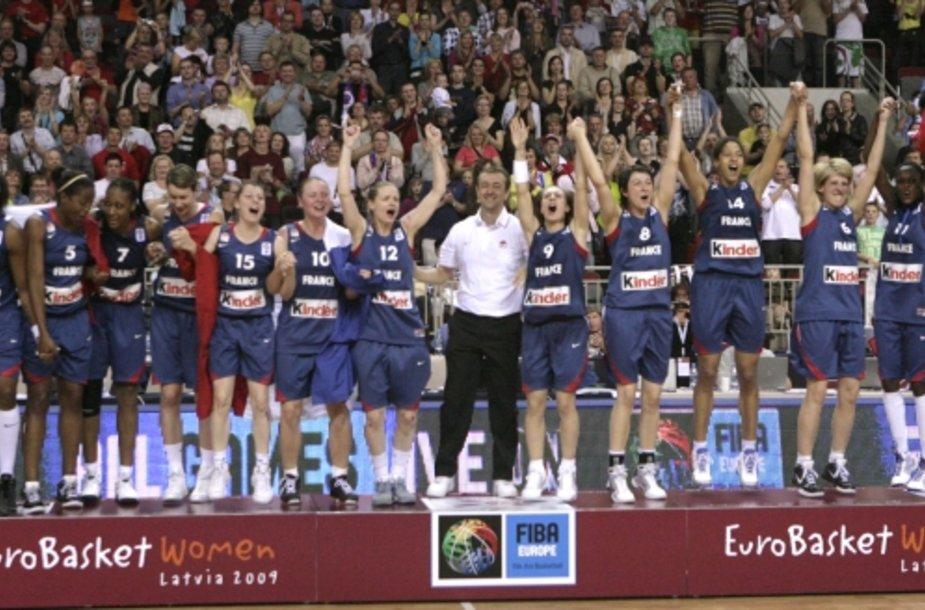 Europos čempionėmis Prancūzijos krepšininkės tapo antra kartą šalies istorijoje.