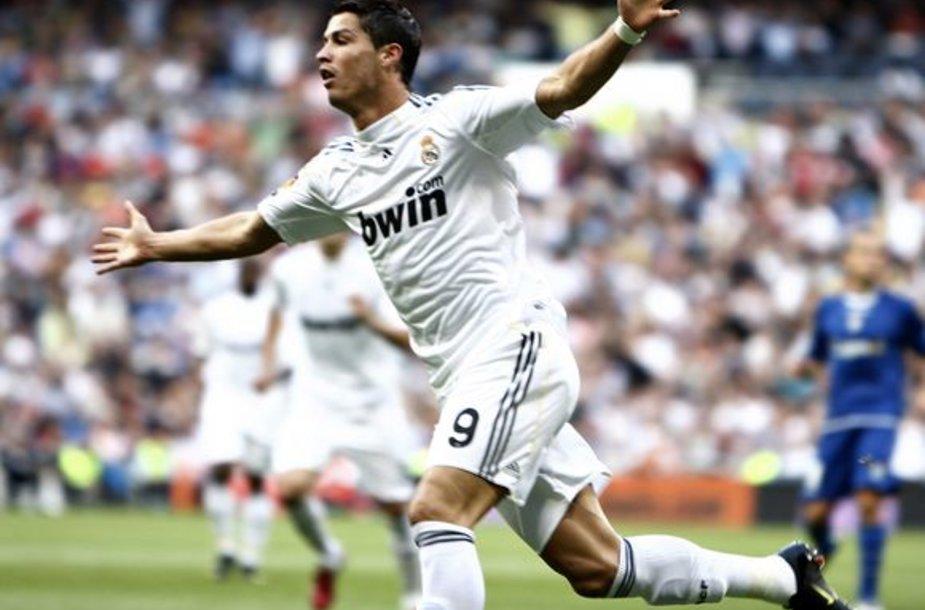 """Per trejas žaistas šio sezono """"La Liga"""" čempionato rungtynes C.Ronaldo įvarčiu džiaugėsi jau 4 kartus"""