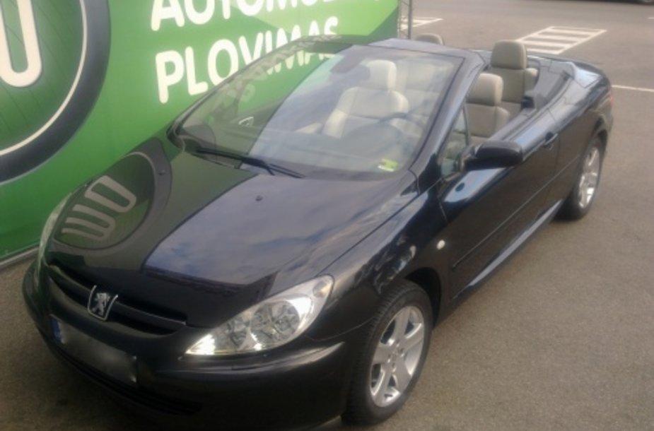 "Pavogtas M.Niparavičiaus ""Peugeot 307 CC"" automobilis."