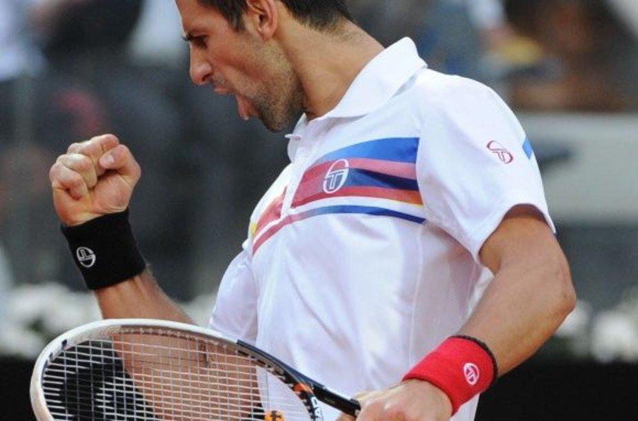 Novakas Džokovičius iškovojo 37 pergalę šiemet.