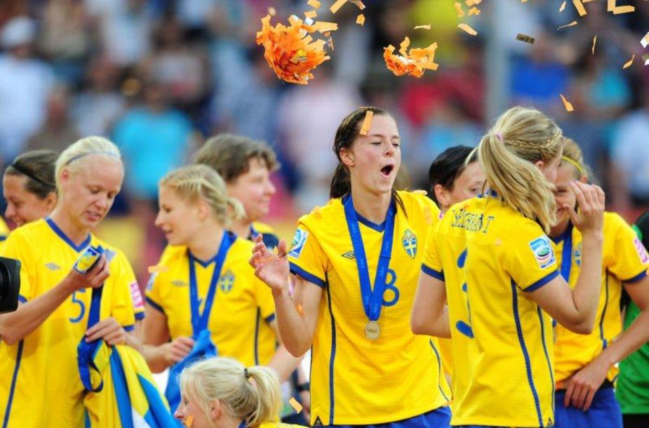 Švedijos futbolininkių triumfas.