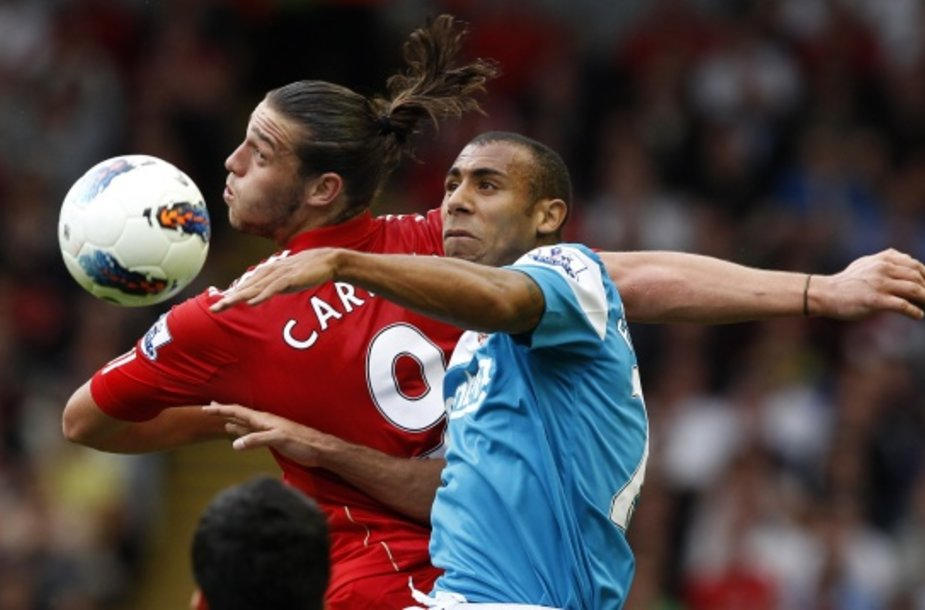 """Liverpool"" ir ""Sunderland"" rungtynių akimirka."