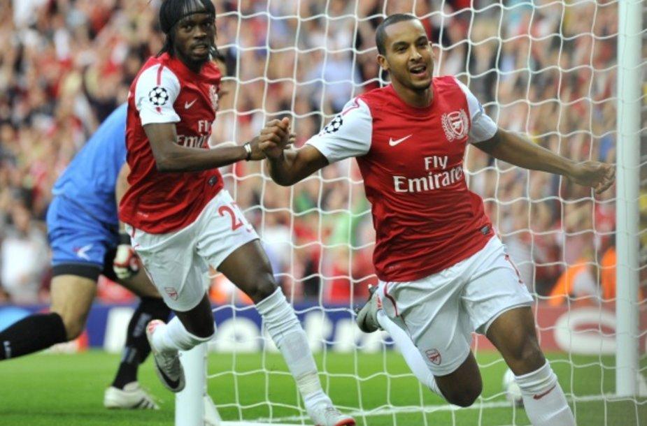 """Vienintelį """"Arsenal"""" įvartį pelnė Theo Walcottas."""