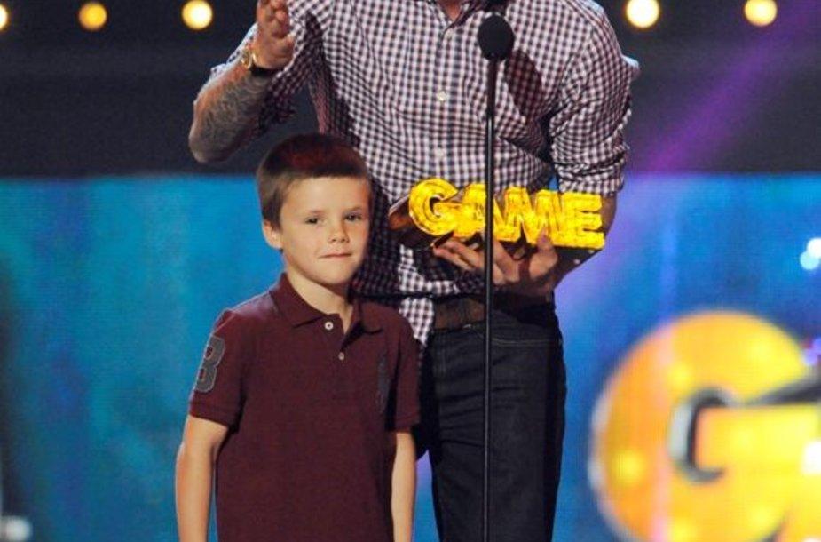 Davidas Beckhamas su sūnumi Cruzu