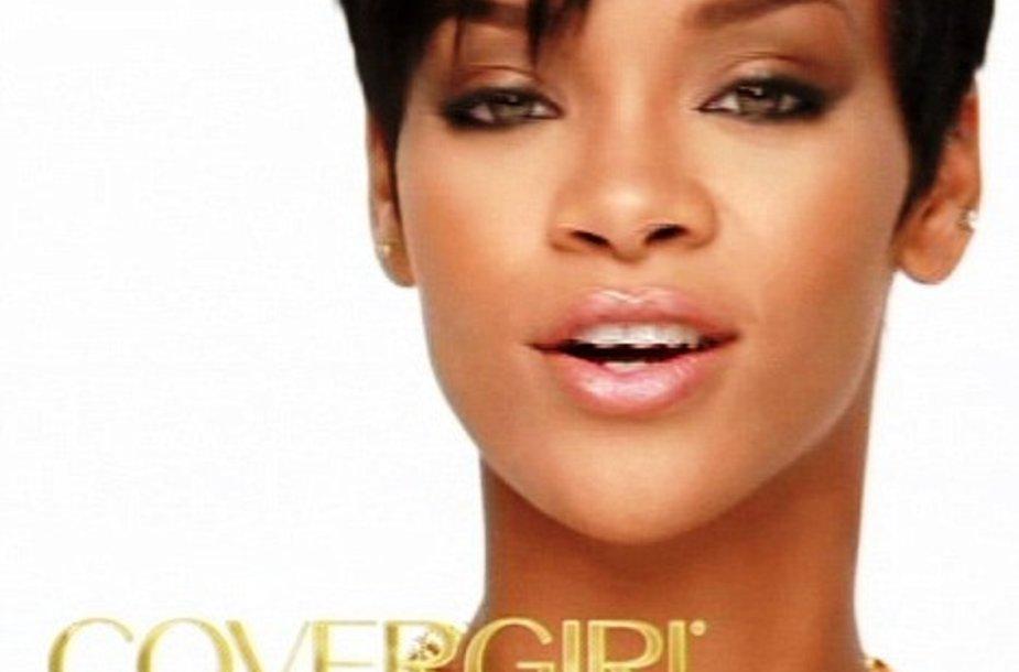 """Rihanna – didžiulės kosmetikos kompanijos """"CoverGirl"""" veidas."""