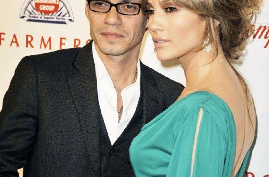 Jennifer Lopez su vyru Marcu Anthony