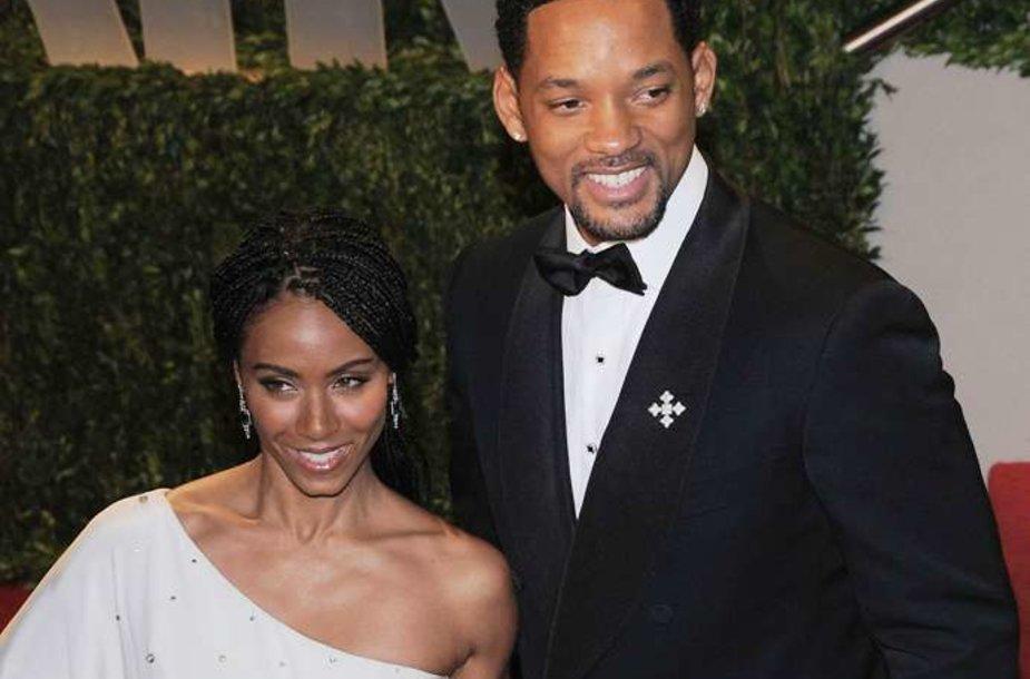 Willas Smithas su žmona aktore Jada Pinkett Smith.