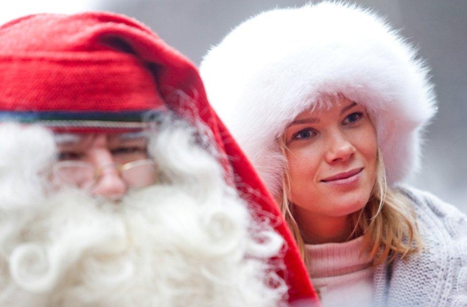 Kalėdų Senelis Joulupukis ir Aistė Paškevičiūtė