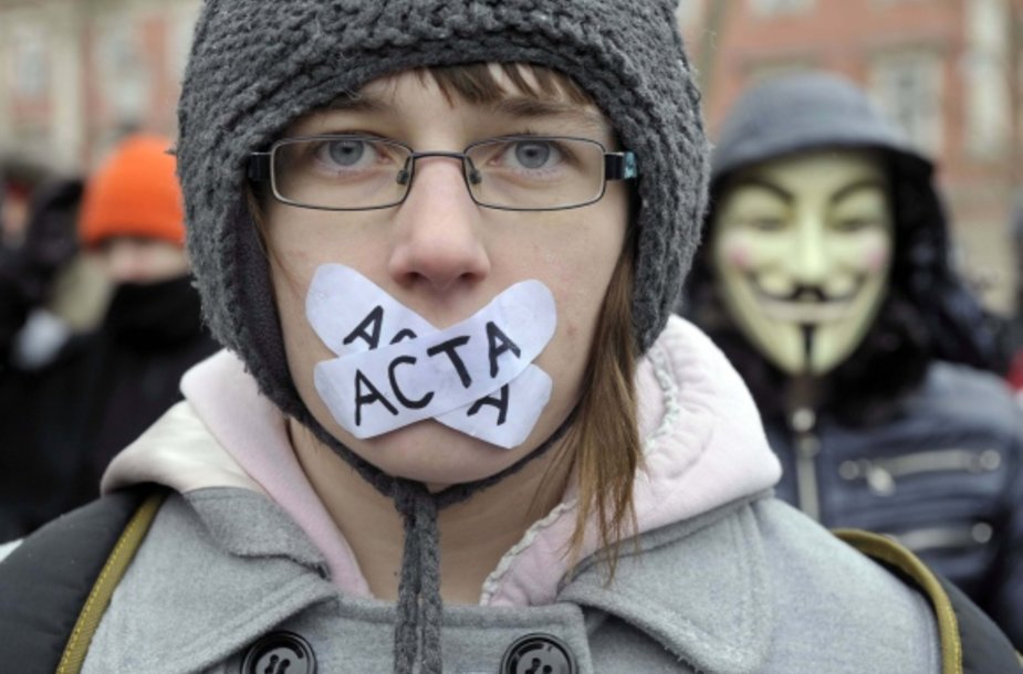 ACTA sutarčiai nepritariantis jaunimas