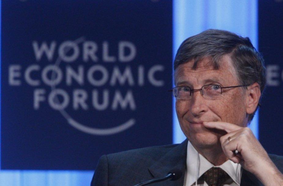 """Vienas iš """"Microsoft"""" įkūrėjų Billas Gatesas"""
