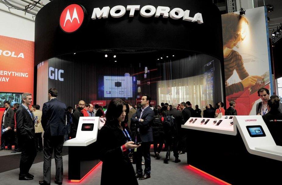 """Motorola"" stendas renginyje ""Mobile World Congress"""