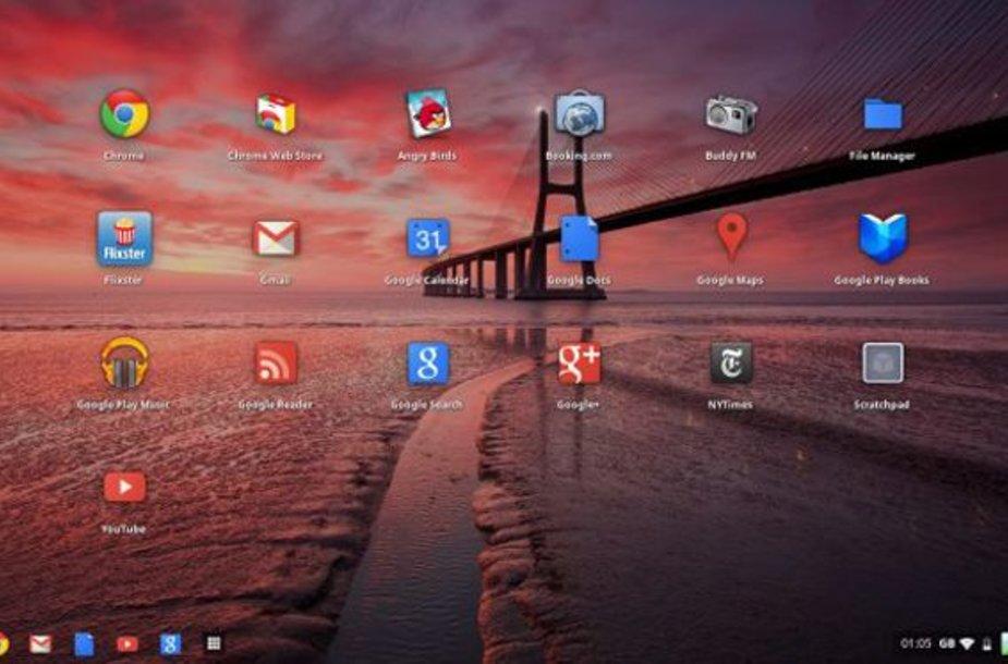 """Naujoji """"Chrome OS"""" operacinės sistemos grafinė sąsaja """"Aura"""""""