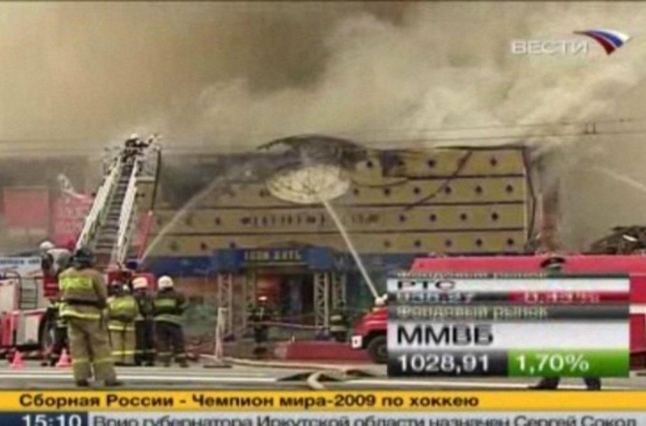 Gaisras Maskvos centre.