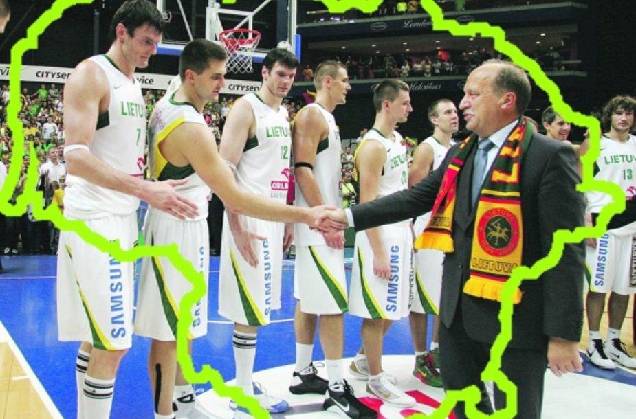 """Įvaizdžio formavimo specialistai Lietuvai siūlo susieti šalies vardą su gintaru, džiazu, lazeriais, rūpintojėliais ar net krepšiniu. A.Kubiliaus nuomone, """"krepšinis yra svarbi Lietuvos dalis"""", tačiau formuojant Lietuvos įvaizdį svarbiau akcentuoti lietuvių darbštumą, išsilavinimą, dinamiškumą."""