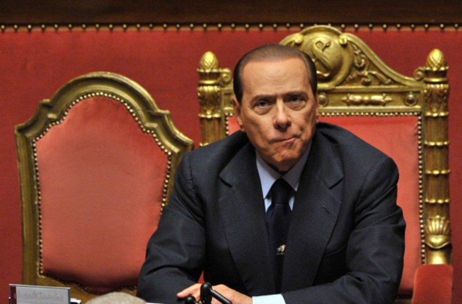 Italijos premjeras Silvio Berlusconi.