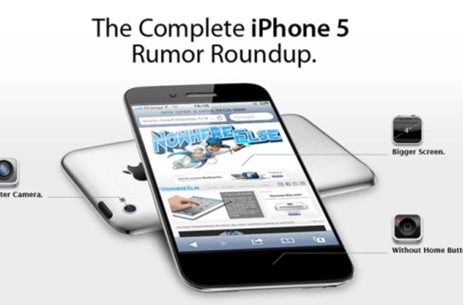 """Nors dar neaišku, kada """"iPhone 5"""" bus pristatytas, vartotojai jau svarsto, ko iš jo galima tikėtis."""