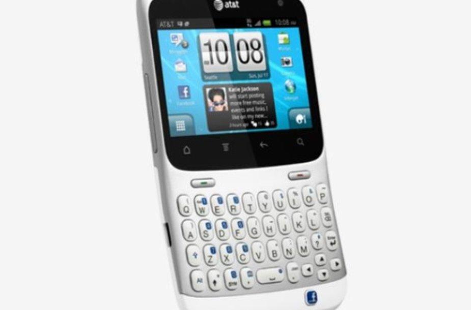 """Kompanija HTC pristatė pirmąjį """"Facebook"""" telefoną """"HTC Status""""."""