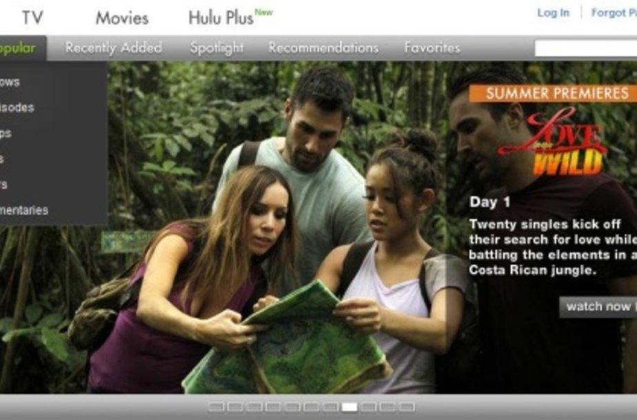 """""""Hulu"""" vartotojams siūlo internetu žiūrėti populiarias laidas, serialus, filmus."""