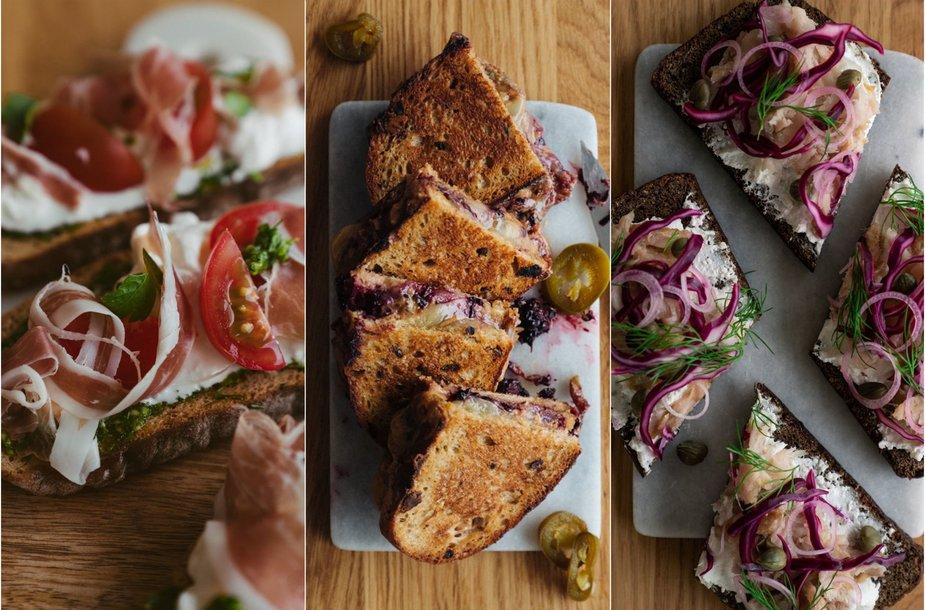 Skirtingų šalių įkvėpti sumuštiniai