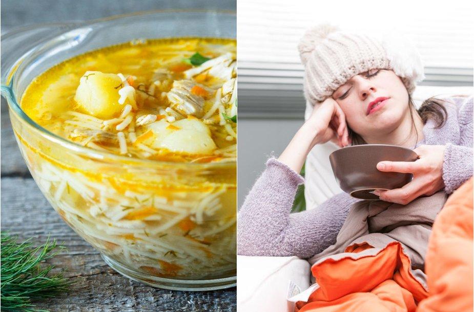 Stiprinanti vištienos sriuba