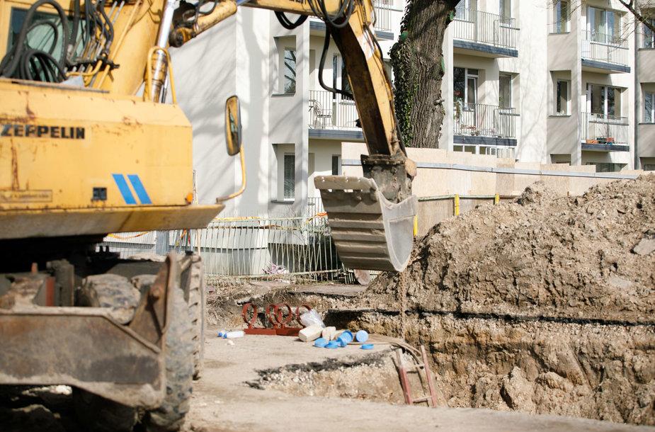 Statybose aptiktas sprogmuo