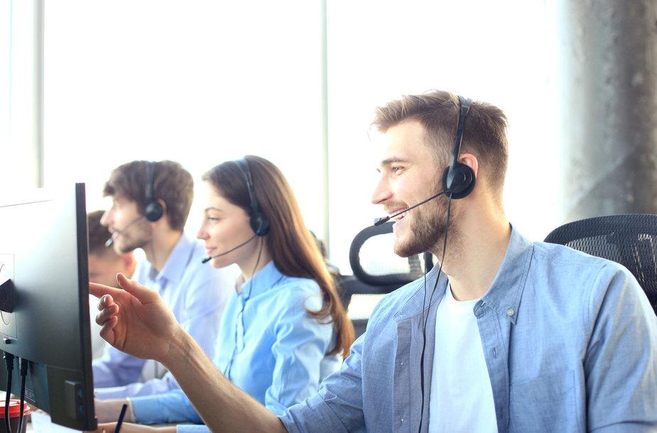 Vartotojų konsultavimas telefonu