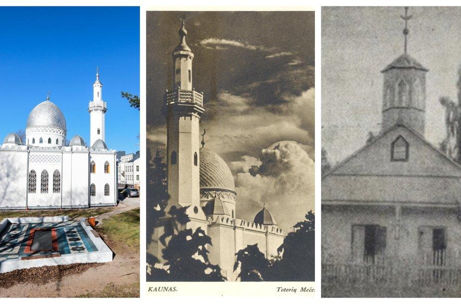 Kauno totorių mečetė skirtingais savo gyvenimo etapais