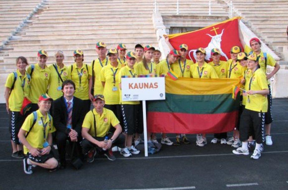 Kauno sportininkų delegacija.