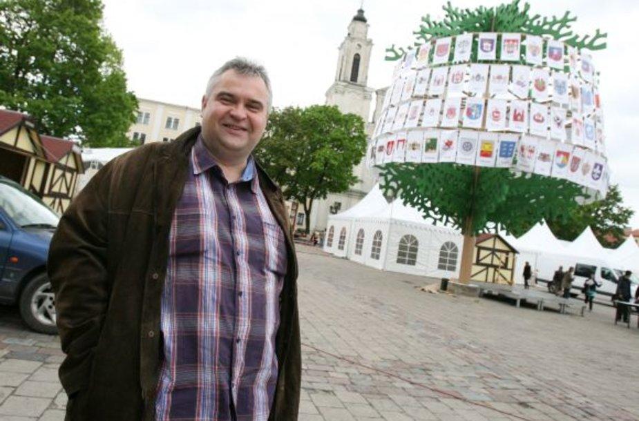"""Tarptautinės šventės """"Hanza Kaunas 2011"""" direktorius Darius Rumšas kvietė kauniečius likti ne pasyviais stebėtojais."""