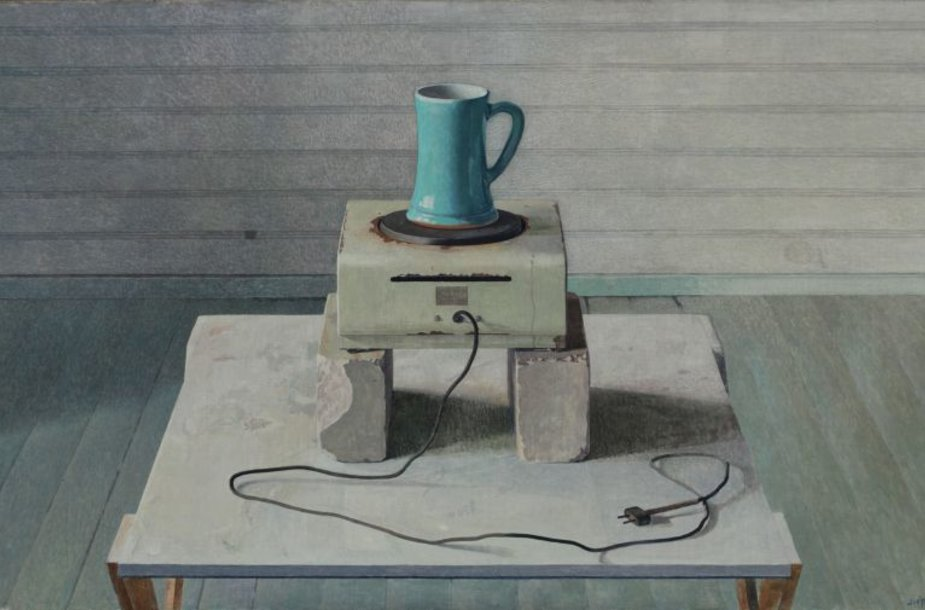 """A.Švėgždos paveikslas """"Natiurmortas"""", sukurtas 1981 metais, dar prieš inkstų persodinimo operaciją."""