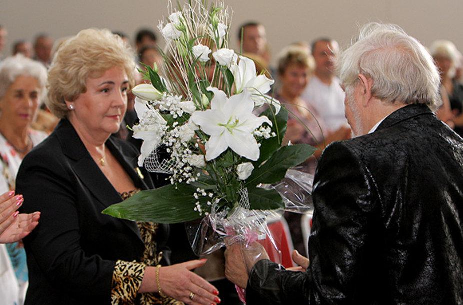 K.Brazauskienė ir V.Šustauskas